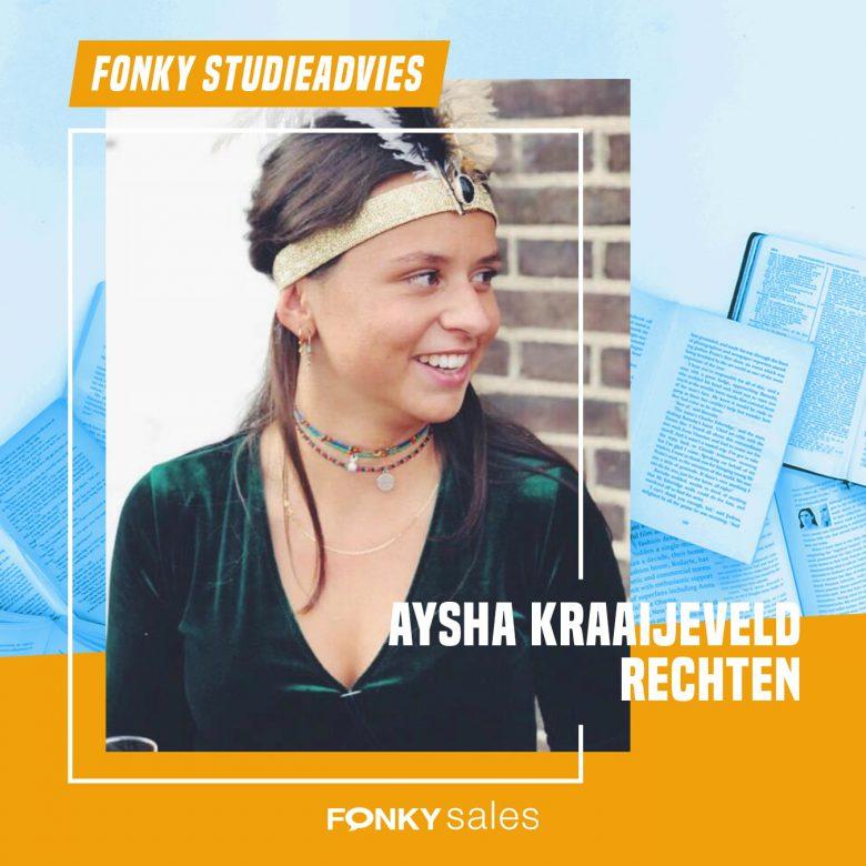 Fonkiaan Aysha vertelt over haar studie Rechten