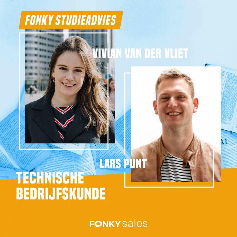 Fonkianen Vivian en Lars vertellen over hun studie Technische Bedrijfskunde